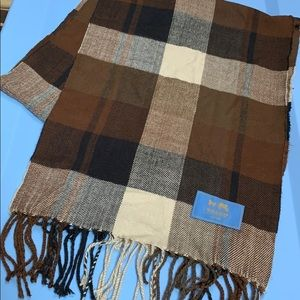 Coach scarf. 12.5 wide/66 inches long. Nice!